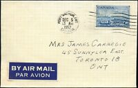 1952 Canada Cover PORT ARTHUR to TORONTO ONT.with 7c Scott #313 stamp