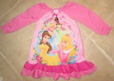 New Girl's 2T Disney Princess Cinderella Belle Tiana Sleep Dress Nightgown