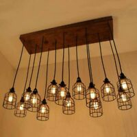 Vintage Birdcage Lampshade Iron Cage Pendant Light Hanging Ceiling Lamp Shade