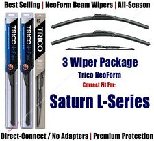 3-Pack Wipers Front & Rear - NeoForm - 2000-2005 Saturn L-Series 16190x2/30130
