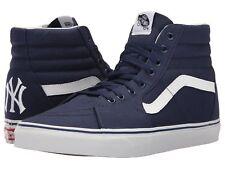 Vans X MLB Men's/ Women's Sk8 Hi Yankees Canvas Fashion Sneaker Navy
