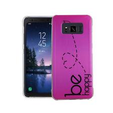 Funda para Móvil Samsung Galaxy S8 Active Sé feliz fucsia estuche Diseño
