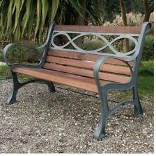 Panchina Houston 131 x 65 x 71H cm Struttura in Ghisa Legno di Prima Qualità