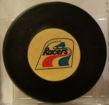 INDIANAPOLIS RACERS VINTAGE WHA OFFICIAL GAME PUCK SCARCE OLD BEAUTY