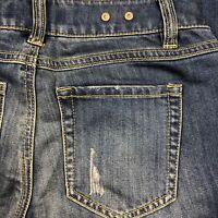 CAbi Womens Slim Boyfriend Distressed Stretch Jeans Size 0 27x31