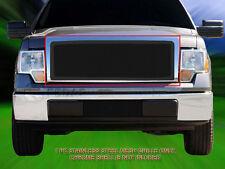 For 09-12 Ford F-150 F150 Black Stainless Steel Mesh Grille Upper Insert Fedar