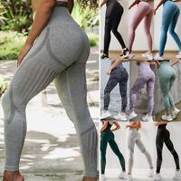 Women Ladies Seamless High Waist Gym Leggings Fitness Sport Training Yoga Pants