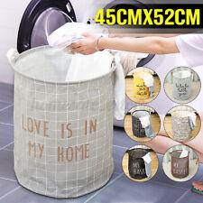 Foldable Dirty Clothes Storage Bag Laundry Basket Cart Hamper Washing Bin