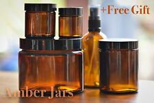 VALUE MIx  21x Glass Amber Jars & Aromatherapy Bottles Spritzer Top +2 FREE GIFT