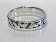 Sterling Silver Foot prints Ring Sizes 6, 7  S721