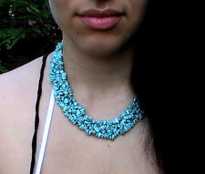 Turquoise Native American necklace, Stone blessed by Native American Zane.M