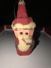 Antique Egg Carton Handmade Santa Ornament
