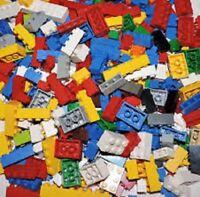 LEGO 100x BRICKS BULK PARTS LOT + 1x MINIFIG mixed sizes classic city clean #1