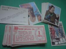 Lotto Figurine OLIMPIADI Baggioli 1968 + Buoni Premio Rare  Nuove NEW /F3/