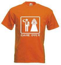 GAME OVER T-SHIRT - Stag Do Party Wedding  - Choice of Colour - FREE POSTAGE