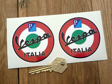 "Vespa Piaggio Italia Scooter roundel pegatinas 3 ""par Gs Gt Mods Lx Bicimoto Casco"
