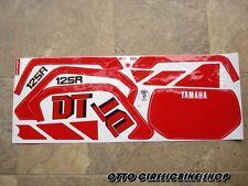 YAMAHA ENDURO 125 DT125R DT125  Stickers Set RED