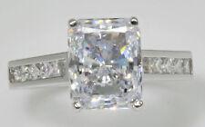 3 ct Extra Brilliant Radiant Ring Top CZ Imitation Moissanite Simulant Sz 8