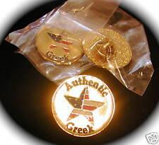 """""""AUTHENTIC GREEK"""" Lapel Pins, Wholesale lot of 5 SALE!!"""