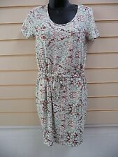 DRESS MULTI COLOURED SIZE 6 PRINT JERSEY CASUAL SUMMER BNWOT