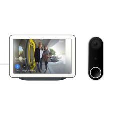 Video Doorbell Google Nest Hello with 7in Hub Touch Screen Charcoal WIFI Smart