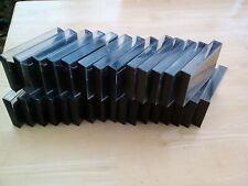 25 x AUDIO CASSETTE BLACK CASES WITH PINS.