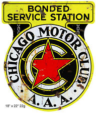 Chicago Motor Oil Aged Looking Reproduction Gas Station Sign 18x22