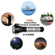 NATO® Tactical 7-in-1 Multi functional Solar Powered Emergency Flashlight USA