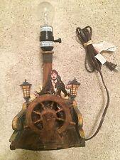 Disney Pirates Of The Caribbean Table Lamp Jack Sparrow Vintage
