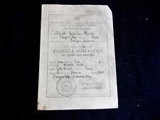 PAGELLA SCOLASTICA SCUOLA ELEMENTARE ANNO SCOLASTICO  1974 / 1975