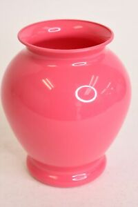 Pink Plastic Small Decorative Vase Home Living Room Kitchen Table Décor Piece