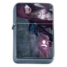 Hot Anime Witches D10 Flip Top Dual Torch Lighter Wind Resistant