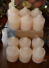 PARTYLITE 1 DOZEN MARSHMALLOW VANILLA VOTIVES brand new SUPPLY, 30% DISCOUNT