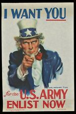 WWII 1940 VINTAGE UNCLE SAM I WANT YOU ENLIST US ARMY POSTER STAMP