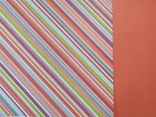 """12""""X12"""" Scrapbook Paper Double Sided The Ants Go Marching Diagonal Stripes"""