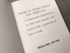 American Negro Songs and Spirituals / Bonaza Books / John W. Work / 1940