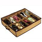 12 Shell Shoes Storage Organizer Holder Intake Under Bed Closet Fabric Bag Box