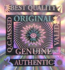 1000qty Silver Hologram Stickers seals labels Genuine Quality 15x15mm S15-1S