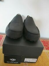 UGG Men's Upshaw Black Leather Loafer Slippers Size 11 New