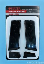 NEW Ruger LC9 LC9s Magazine w/Extension 7-Round RD 9mm Value 2-Pack 90642 OEM