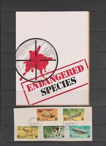 Kenya 1977 Endangered Species Ex FDC pmk on piece per scan with insert