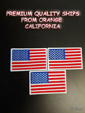 3 x American Flag, Embroidery Patch Iron-On Sew-On