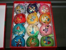 Rare 2009 Disney 12 Days of Christmas Decoupage Ornament / Bauble Set