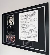 Liam Fray signed The Courteeners Anna songsheet Framed-Ltd Edition-RARE