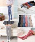 Neu Damen Kniestrümpfe Trachtensocken Strümpfe Leggings Überknie Overknee Socken