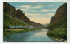 Railroad Train Overland Limited On Its Way To California 1910c postcard