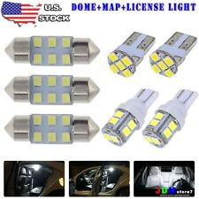 8x White LED Bulb For Car Dome Map License Plate Light Interior LED Package Kit
