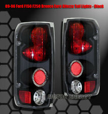 87-96 FORD F-150 F-250 F-350/89+ BRONCO TAIL BRAKE LIGHTS BLACK LEFT+RIGHT PAIR