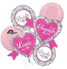 Bride To Be Love & Cherish Balloon 5pc Bouquet Party Decoration Bridal Supplies~