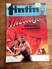 journal tintin no 38 (1984) spécial indiana jones